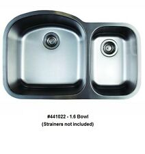 BLANCO 441022 STELLAR 1.6 Bowl Undermount Stainless Steel Kitchen Sink
