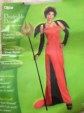 Ladies Desirable Devil Red Black Halloween Fantasy Costume Size L (12-14)