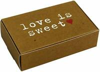 10 Love Is Sweet Cake Boxes Wedding Party Favours Brown Just My Type Anniversary