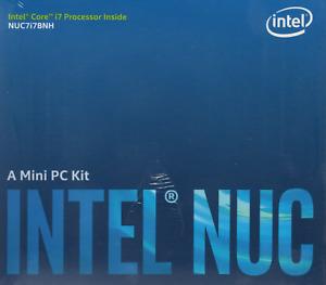 Intel NUC7i7BNH Barebones Kit - build your own mini-desktop computer!