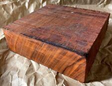 Exotic Padauk Wood Turning Lumber 6x5.5x2 Knife Handles Making Reel Seats Timber