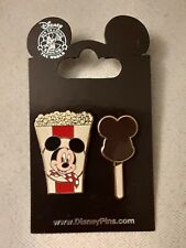 Wdw~New 2010 Mickey Mouse - Popcorn and Ice Cream Bar (2 Pins Set) # 77150