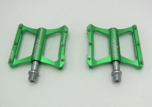 Road MTB Mountain Bike XC Bicycle Pedal Flat Cycling Pedals 3 bearings Green