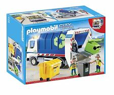 PLAYMOBIL 4129 Recycling truck with Lights New sealed OOP