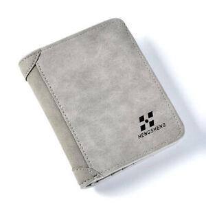 Hot Men's Leather Wallet Pocket ID Card Holder Billfold Slim Clutch Bifold Purse
