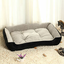 Black Brown Soft Fleece Puppy Pet Dog Cat Bed Basket Nest Waterproof All 3 Sizes