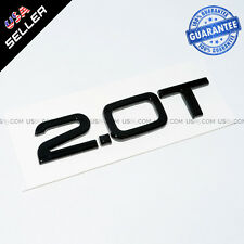 OEM Nameplate Audi 2.0T Gloss Black Emblem 3D Trunk Logo Badge Decoration SUV