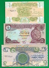 Iraq P-77 P-78 P-79 1/4 1/2 1 Dinars Year 1992-93 about-Unc Banknotes Set #25