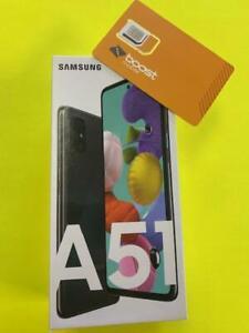 Samsung Galaxy A51 -128GB -Black - 4G LTE  (Boost Mobile) Brand New Sealed