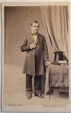 Photographe A. Munvel à Orléans Carte de visite Cdv Vintage Albumine