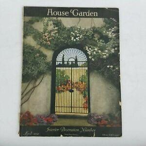 House & Garden Magazine April 1921 Vintage Interior Decoration Number