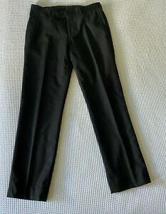 """CALVIN KLEIN Black Fine Pinstripe Wool Blend Dress Pants W32"""" x L28-31"""""""