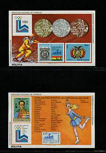 Bolivia1980 Lake Placid Olympics Michel BL 102-3 Souvenir Sheets