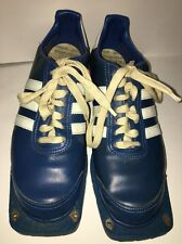 Adidas Stuba Bayer Germany 9.5 Men's Sports Shoes BLUE/White Very RARE/VINTAGE