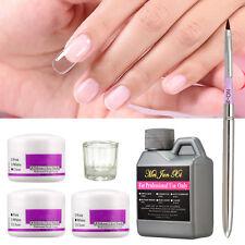 Pro Nail Art Kit ~ 3 Colors Acrylic Powder + Liquid Pen + Glass Dappen Dish Set