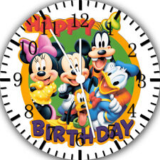 Mickey Mouse Kids Birthday Frameless Borderless Wall Clock Nice For Gifts E269