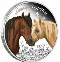 2017 50c Tuvalu Always Together Horse 1/2oz Silver Proof Coin