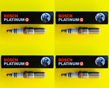 New SET OF 4 BOSCH Platinum+2 Spark Plugs 4314 - Made in Germany