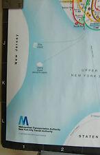 RARE SCARCE NYC NEW YORK SUBWAY CAR MAP  MTA DIAMOND JUBILEE ANNIVERSARY1979