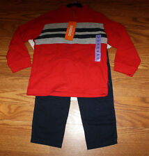 NWT Boys GYMBOREE 3 Pc Red White Navy Tiger Pants Shirt Jacket Set Size 3T