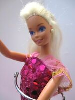 Original Barbie Doll Platinum Blonde Hair Pink Spanish dress & Pink High Heels