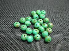 25 böhmische Rondelle geschliffen grün 5x4mm 9811