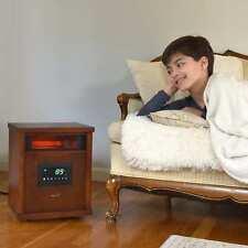 Portable Infrared Quartz Electric Space Heater 1500-Watt Remote Control for Home