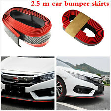 Car Front Lip Bumper Carbon Fiber Strips Protection Decoration Auto Accessories