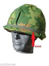 BAND HELMET M1 CAT EYE f/ CAMOUFLAGE VIETNAM WAR ARMY USMC MILITARY w P38 Opener