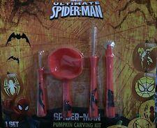 New ! Marvel Ultimate Spider-Man Pumpkin Carving Kit Halloween Pumpki Decorating