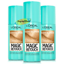 3x Loreal Magic Retouch LIGHT BLONDE Instant Root Concealer Spray 75ml