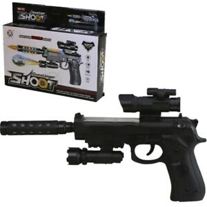 KIDS SPECIAL FORCES PISTOL TOY GUN LIGHTS & SOUNDS BOYS GIRLS ARMY SOLDIER PLAY