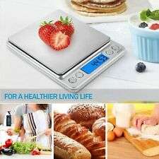 Digital Electronic Kitchen Scale Food Weight LCD 0.1g-3000g Weighing with 2 Tray