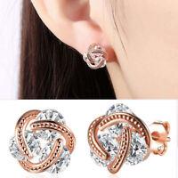 EG _Mode Femmes DAME STRASS Boucles d'oreilles puces Cadeau COCKTAIL bijoux
