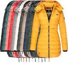 Marikoo Damen Winter Jacke Stepp mantel FVS4 parka Steppjacke lange Abendsternch