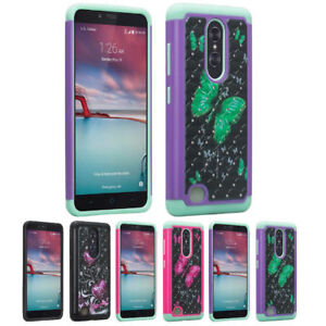 For ZTE ZMAX Pro Grand X Max 2 Imperial Max Carry Hybrid Hard Diamond Case Cover