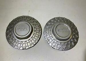 Saab 900 9000 RONAL Mesh Silver Wheel Center Cap 89049 105122352 4199360