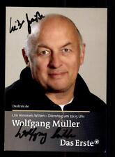 Wolfgang Müller Um himmels willen Autogrammkarte Original Signiert # BC 130710