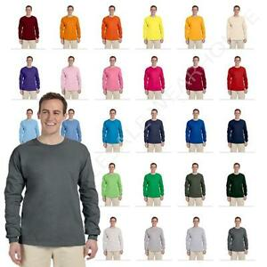 Fruit Of The Loom Mens Long Sleeve T-Shirt HD Cotton Tee WD930