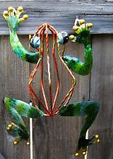 Metal Frog Decorative Art 13""