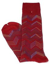 Lord R Colton Men's Red Blue Beige Stripe Dress Socks - $28 Retail - New