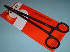 "Dr Slick 10"" Long Range Clamp Black Straight Hemostats Fly Fishing Clamps C10B"