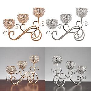 Crystal Candle Holder Candelabra Candelabrum Wedding Centerpiece Home Decor