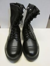PARATROOPER SIDE ZIP MILITARY BOOT GOODYEAR WELT CONSTRUCTION SIZE US 10.5 BLACK