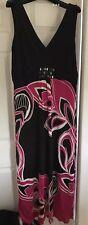 Black & Pink Monsoon Maxi Dress (Petite) Size 16