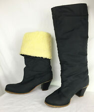 Vintage Golo Rain Boots Faux Shearling Nylon 2 Way Cuff or Tall