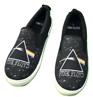 Pink Floyd Mens Slip-On Canvas Shoes Skate Prism Space Design Loafers New