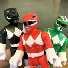 lot 3 Imaginext Power Rangers  Red Blue Black Green Ranger FIGURES TOYS BOYS