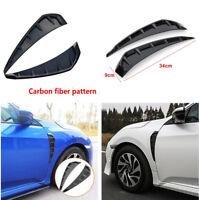 2PCS Car Front Door Side Winglet Air Wing Vents Cover Black For Honda Civic