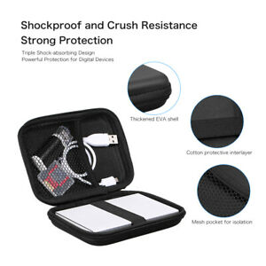 2.5Inch Carry Case Cover Pouch USB External Hard Disk Drive HDD PC Laptop Travel